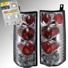 CHEVY EXPRESS VAN GMC SAVANA CHROME TAIL LIGHTS +SUPER WHITE LICENSE PLATE BULBS