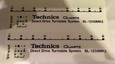 Technics Sl1200 / 1210 Custom Deck Decals - Pimp - Mod - Sticker Kit