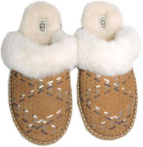 Ugg Australia Slip On Shearling Fur Lined Slip On Slippers Shoes 7 - 38 New