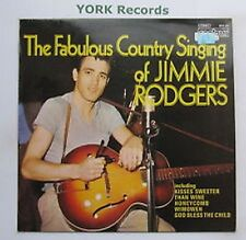 141  LP JIMMIE RODGERS - The Fabulous Country Singing Of .Contour Label 2870 331