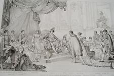 MARIAGE PRINCE JEROME BONAPARTE CATHERINE DE WURTEMBERG GRAVURE 1838 R1139