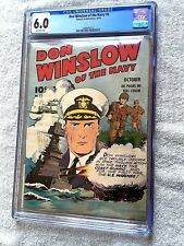 Don Winslow of the Navy #8 cgc 6.0 OFF-WHT Pgs 1943 & FREE Full Color Photocopy