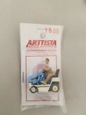 Arttista O Scale Figure #1605 - Man on Riding Lawnmower - O On3 On30 Scale - New