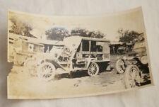 PHOTO GUERRE 14 18 AMBULANCE AMERICAINE  VILLE DE COUSANCES MEUSE 1917 GR04
