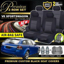 Premium Black Holden VE Sports Wagon Seat Covers 2ROW SS SSV SV6 OMEGA 8/2006-13