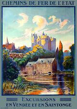 Affiche chemin de fer Etat - Vendée et Saintonge
