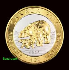 New listing 2015 Canada 1.5 oz Silver $8 Polar Bear & Cub 24K Gold Gilded Canadian