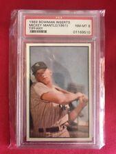 1989 Bowman Inserts MICKEY MANTLE 1951 Reprint Tiffany PSA 8 NM-MT YANKEES HOF