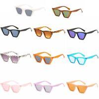 Plastic Womens Full Rim Cat Eye Sunglasses Vintage Fashion Sun Glasses Shades
