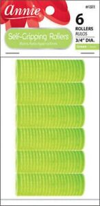 Annie Self-Gripping Rollers 3/4In 6Ct Green #1311
