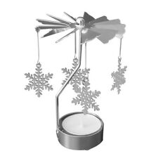 Rotating Spinning Carrousel Tea Light Candle Holder Center Wedding Decoration_GG Snowflake