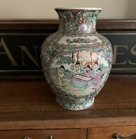 Beautiful Antique Cantonese Famille Rose Design Vase