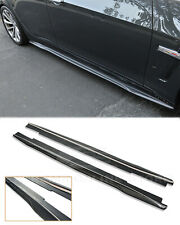 CARBON FIBER Side Skirts For 16-19 Cadillac CTS-V Rocker Panel Package Extension