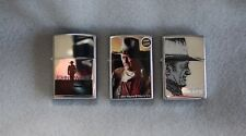 Zippo John Wayne Lot of 3 Lighters All From 2005 All NEW NEVER USED