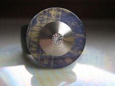 """Scheibe - Blau - """"Graffiti""""- 18mm - kompatibel mit Charlotte 21 Ring"""