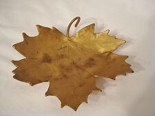 "McClelland Barclay Metal Maple Leaf Dish Trinket  6"" Vintage"