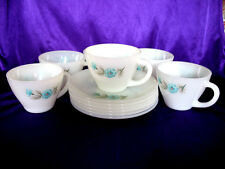 6 Fire King Boutonniere Cups & Saucers EXCELLENT