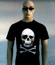 D 'Skull Head Skull Pirate Rock Star Emo T-Shirt G M