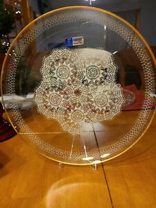Crystal Clear Studios White Lace Platter