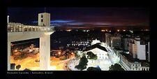 Poster Panorama Elevador Lacerda Salvador Brazil Night Panoramic Fine Art Print