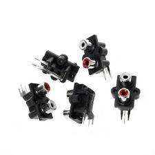 5Pcs PCB Mount 2 RCA Female Stereo Aux Audio Video Jack AV Socket Connector