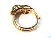Bijou bague chien Jourdan plaqué or Taille 55  ring