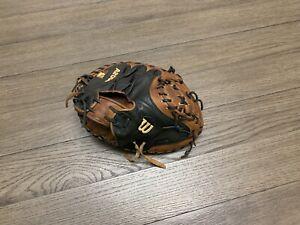 """Wilson A2000 1790 34"""" Catchers Mitt Baseball Glove Black Brown"""