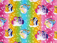 FAT QUARTER  MY LITTLE PONY OMBRE TOSS MAGIC COTTON FABRIC SPRINGS CREATIVE  FQ