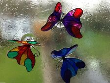 BUTTERFLY STAINED GLASS EFFECT RESIN SUNCATCHER MOBILE FAIR TRADE REIKI NEW AGE