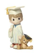 New ListingPrecious Moments Porcelain Figurine Boy Graduation Gown Teddy Bear I Did It!