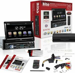 "Boss Car Audio Stereo Bluetooth Hands-Free Calling with Touch Screen 7"" Display"