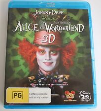 Alice In Wonderland 3D Disney Blu-ray