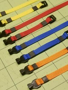Set of Four (4) Miniature Cargo Buckle Straps for 1/10 and 1/14 Scale RC