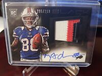 2013 Panini Black Football Marquise Goodwin 3 Color Patch Auto RPA #296/299