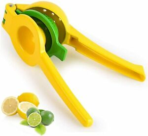 Metal Lemon Lime Squeezer Manual Citrus Press Juicer 2 in 1 Robust for Extractin