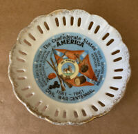 The Confederate States Of America Civil War Centennial Collectors Plate w/Hanger
