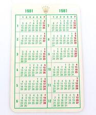 .RARE 1981 ROLEX CALENDAR. SUBMARINER, GMT, DATEJUST, EXPLORER, OYSTER ETC