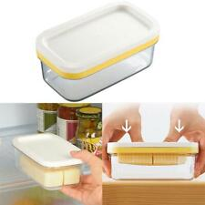2 in 1 Butter Dish Butter Serving Tray with Lid Cutter /Container Box Protable V