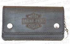 Portafoglio motociclista pelle motorcyles original bikers catena Wallet Biker