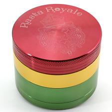 Rasta Royale 2.5 Inch 4 Piece Bladed Teeth Tobacco Spice Herb Grinder- Rasta