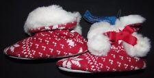 NUEVO Pantuflas Para Niña Botas Talla 11 EUR 29 Marks & Spencer Rojo de Navidad