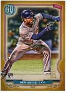 Travis Demeritte 2020 Topps Gypsy Queen 5x7 Gold #297 /10 Tigers