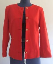 Sportscraft wool Womens Blazer Jacket Size 10 office/corporate Red gold buttons