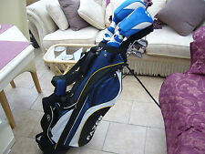 USED LEFT HAND CALLAWAY STEELHEAD  MENS GOLF SET  IRONS WOODS,PUTTER + BAG