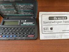 Sii Seiko Instruments Tr 2201 Berlitz Spanish English Translator w manual