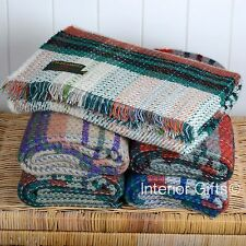 Tweedmill 100% WOOL Recycled *ECO FRIENDLY* PICNIC BLANKET Travel Car Knee Rug