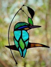 SACRED KINGFISHER Stained Glass Hand Crafted Suncatcher AUSTRALIAN BIRD DESIGNS