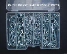 170 kits ganchos roscados (muy ojales-ring) surtido con rosca de madera