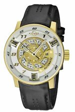 GV2 By Gevril Men's 1306 Motorcycle Sport Automatic Leather Watch