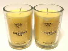 LOT 2 BATH & BODY WORKS HOME CHAMPAGNE TOAST SCENTED FILLED 6.3 OZ MEDIUM CANDLE